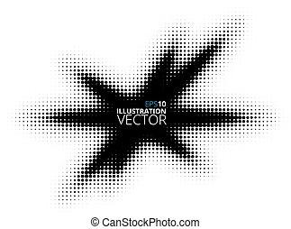 Abstract Retro Star Halftone Design Template
