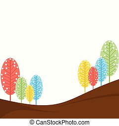 abstract retro tree design