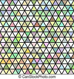 Abstract retro triangle grid background