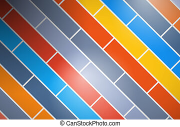 Abstract Retro Vector Colorful Brick Background