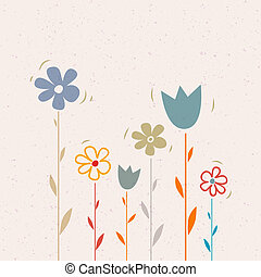 Flowers on Recycled Paper