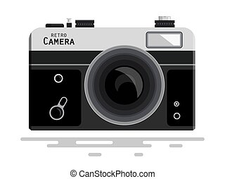 Abstract Retro Vector Photo Camera Isolated on White Background