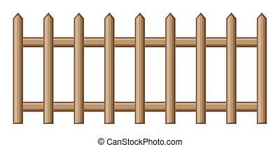 Abstract Retro Wooden Fence Vector Design