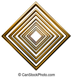 abstract rhombus gold pattern