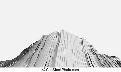 Abstract Ribbon Strips. Seamless looping animation