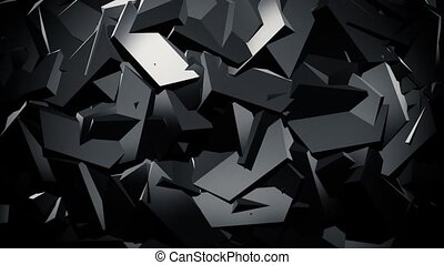 Abstract ridged surface in black
