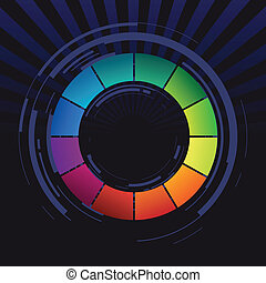 abstract, ring, gekleurd