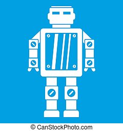Abstract robot icon white