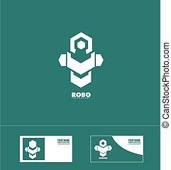 Abstract robot technology logo - Vector company logo icon...