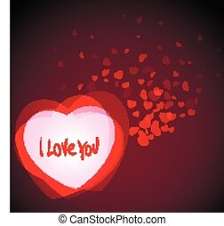 Abstract Romantic Background with Hearts - Abstract vector...