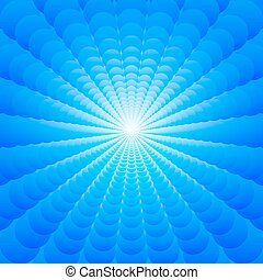 Abstract background of blue circles arranged multiscale