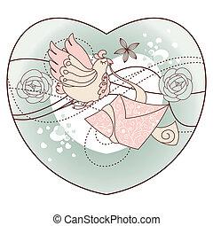 abstract romantic vector illustration