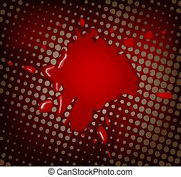 abstract, rood, artistiek