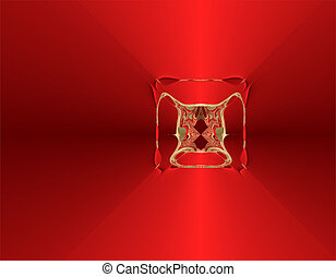 abstract, rood, medaille
