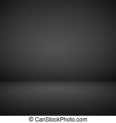 Abstract room interior black background