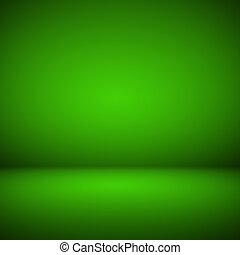 Abstract room interior green background
