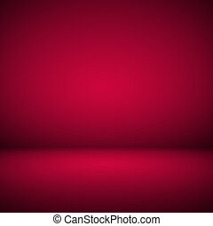 Abstract room interior red background