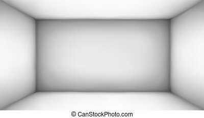 Abstract Room Of White Color. Vector