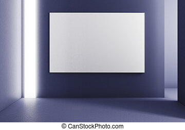 Abstract room with poster