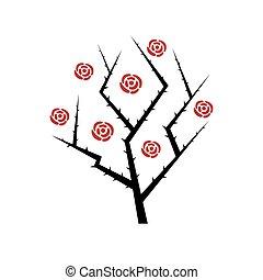 Abstract rose bush