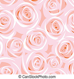 abstract rose seamless background - vector abstract rose...