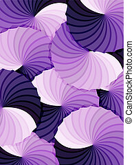 Abstract rosette purple gradients background