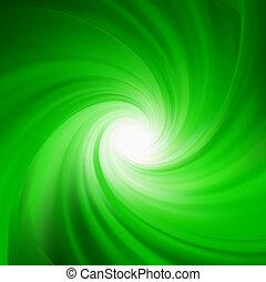 abstract., rotación, verde, eps, 8