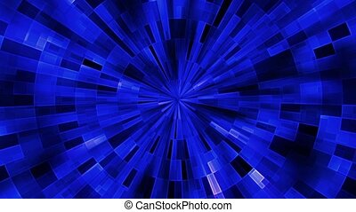 Abstract rotating circles in blue