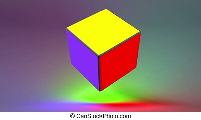 abstract rotating cube, loop-able 3d animation