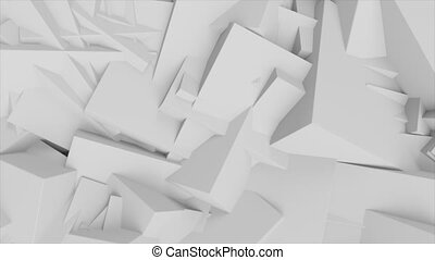 Abstract rotating cubes.