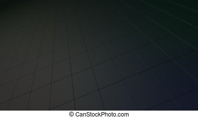 Abstract rotating dark block surface.
