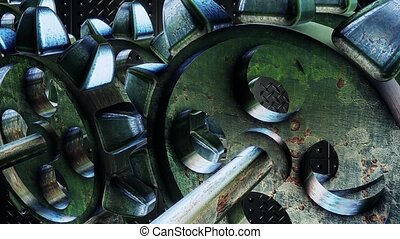 Abstract rotating gears