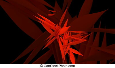Abstract rotating leafs in red color