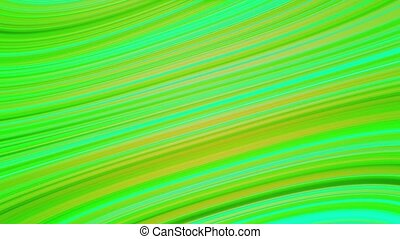 Abstract rotating lines in green