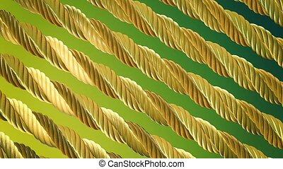 Abstract rotating metal rope