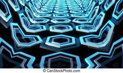 Abstract rotating polygons