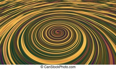 Abstract rotating spiral in various colors