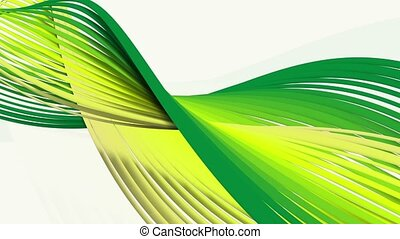 Abstract rotating spirals in green