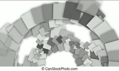 abstract rotation square paper
