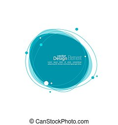 Abstract round banner