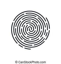 Fingerprint - Abstract Round Bio-metric Fingerprint Scan...