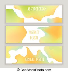 Abstract round design in colorful modern style