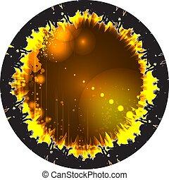 Abstract round disco design. EPS10