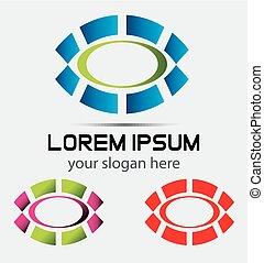 Abstract Round Icon logo