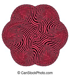 Abstract round paint Striped spiral background