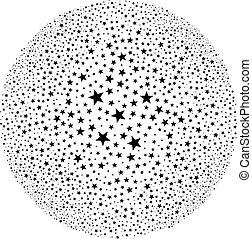 abstract round star starburst