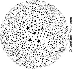 abstract round star starburst - illustration for the web