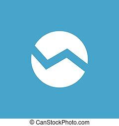 Abstract round symbol icon, white
