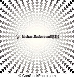 Abstract round triangle background