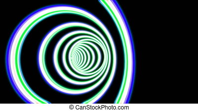 Abstract round tunnel seamless animation